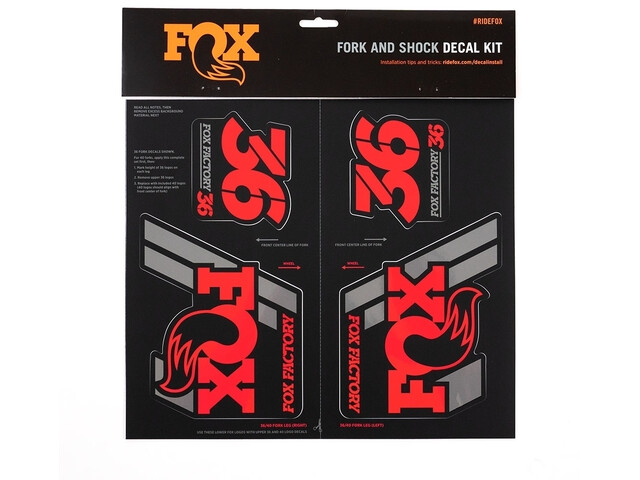 Fox Racing Shox AM Heritage Decal Kit for Fork and Shock, red
